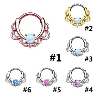 Wholesale Popular Puncture Jewelry Nose Ring Nose Nail Nipple Ring Gold And Silver 2 Colors 6 Styles To Choose D0394