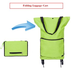 Wholesale New Folding Shopping Bag Shopping Cart on Wheels Bags Small Pull Cart Women Buy Vegetables Bag Shopping Organizer Tug Package