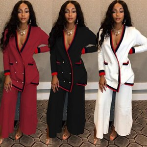 2019 african pants suit women long sleeve tops pant suit clothing africa ladies pink blue black casual lady clothes outfit