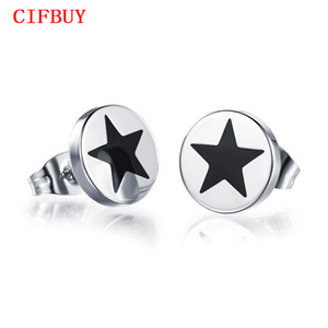 Wholesale CIFBUY mm Men s Barbell Studs Punk Stainless Steel Ear Studs Earrings For Women Men Jewelry Cheap Price GE308