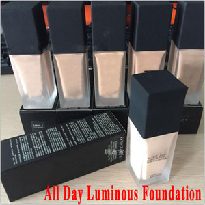 2018 All Day Luminous Foundation Makeup Weightless Oil-free Silky Feel Foundation For All Skin Types Skin Concealer 30ML