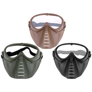 Wholesale full paintball masks for sale - Group buy Adjustable Cycling Full Face Mask Shock Resistance CS Game Paintball Shooting Outdoor Tactical Goggles Protection Face Mask