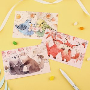 Wholesale 30pcs lovely animal friends style card multi use Scrapbooking party invitation DIY Decoration gift card message card postcard