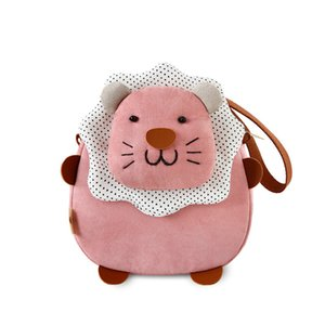 Wholesale 2018 trend wild new small lion personality cartoon Korean cute children s single shoulder fabric practical purse