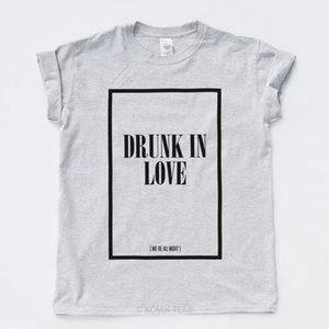 DRUNK IN LOVE FLAWLESS T SHIRT Beyonce Surfboard Grunge Street Goth Music Tee colour jurney Print t shirt