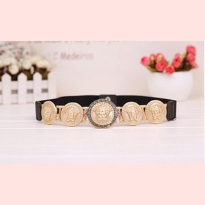 New Brand Belts For Women New Fashion Beauty Head Elastic Belt Vintage Lady Elastic Designer Waistband Strap Luxury Ceinture