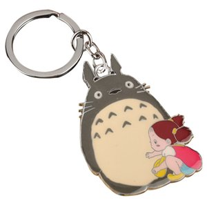 New Arrival Cute Japanese Anime Gray My Neighbor Totoro Keychain Metal Pendants Key Chains
