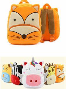 Toddler Fox Unicorn Cartoon Backpack Cartoon School Bag Plush Bookbag Zoo School Bag Little Girls Boys Animal Backpacks 2-4years free ship