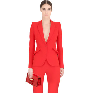 Wholesale 4XL Plus Size Spring Style EleWomen Pants Suits Women Business Suits Formal Office Work Blazer Trouser Suit Feminino
