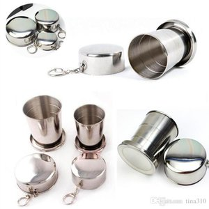 Wholesale 250ML Hot Selling Outdoor Hydration Gear Stainless Steel Cup Travel Camping Folding Collapsible Cup Traveling Cup IB079