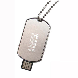 Wholesale 10 Piece No Logo GB GB Metal Chest card USB Drives Brand New Capacity Enough U Disk USB2 Flash Drive Metal Necklace USB Memory Stick
