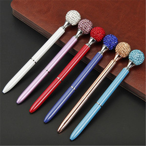 Kawaii Crystal Ball Ballpoint pen Colorful multi color Black   Blue Refill Creative Novel Student Gift & Office Stationery K0131