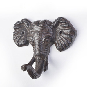 Wholesale Animal Cast Iron Hooks Wall Decoration Elephant Sun Butterfly Dragonfly Modeling Hook Door Hanger ZA6634