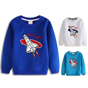 Blue Autumn Children Clothes Aircraft Plane Boys Sweatshirts Baby Boy Clothes Girls Sweaters 4 5 6 7 8 Year Hoodies Kids Outfits on Sale