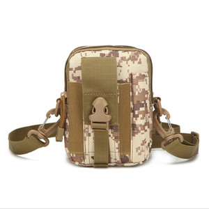 Wholesale Molle Compatible Military Gear Tactical Pouch Outdoor Sports Mountaineering Running Cellphone Waist Bag Fanny Pack With Shoulder Strap