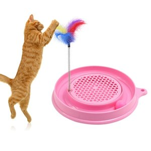 2018 New Arrival Cat Interactive Play Ball Toys Bergan Turbo Scratcher Cat Toy Kitten Product Supplies Training Toy on Sale