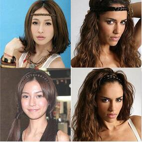 Wholesale 240pcs Fashionate Wig Hair Band Black Dark Brown Light Brown Pigtail Headband Hair Care Styling Tools