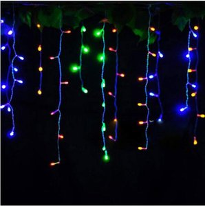 Connector 3.5M 100LEDS 0.5M 0.6M led curtain icicle string lights led fairy lights Christmas lamps Icicle Lights Xmas Wedding Party