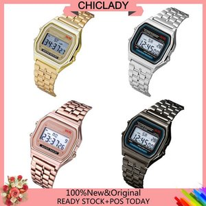 Wholesale Drop Ship Fashion Watches Leather Men women Steel Analog Quartz LED Wrist Watch Fashion and Elegant Design LED Digital Watch1004