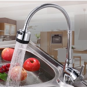 Wholesale Kitchen Faucet Single Hole Out Water Cold Hot Faucet Cold And Hot Kitchen Universal Pipe Solid Brass Interface