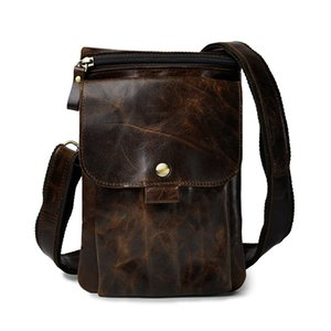 Wholesale Leather Men Casual Multifunction Fashion Crossbody Shoulder Messenger Bag Pouch Designer Fanny Waist Belt Pack Bag c