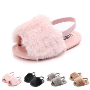 Wholesale Infant Toddler Baby Girls Sandals Girls Soft Sole Fur Shoes Casual Prewalker Summer Fashion Baby Shoes