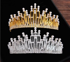 Wholesale New golden Baroque monochromatic bridal crown crown