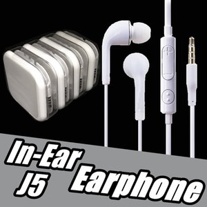 Wholesale 3 mm White Earbuds In Ear Stereo Headphones With Mic and Volume Control Earphone For s Plus Samsung S4 S5 iPhone Android