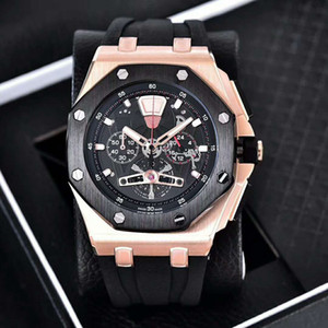 Wholesale Factory Outlet fashion Brand Quality Quartz Movement Multifunction Watch mm Mineral Tempered Glass Mirror Fashion Sports Men s Watch
