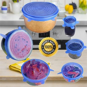 6PCS Set Universal Silicone Suction Lid-bowl Pan Cooking Pot Lid-silicon Stretch Lids Silicone Fruit Cover Pan Spill Lid Stopper Cover m026 on Sale