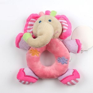 Wholesale Newborn Cute Cotton Baby Boy Girl Rattles Infant Animal Hand Bell Kids Plush Toy Development Gifts Rings Toddler Learning Toys