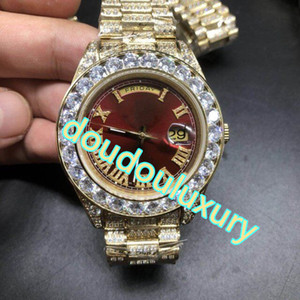 Wholesale rap gold for sale - Group buy Top fashion men s watch gold diamond hot sale watch rap rap style popular sports automatic watch