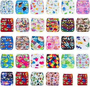 Infant cartoon print adjustable Swim Diapers Cover Cloth Reusable Leakproof baby Diaper Covers pants kids Bread pants 29 styles C4215 on Sale
