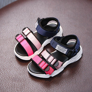Summer Boys Girls Sandals Fashion Hook & Loop Beach Casual Walking Cool Sandals Shoes Soft Children Shoes Sandalias Non-slip Hot products