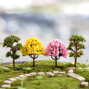 Decoration For Micro Garden Landscape Potted Lawn Mini Artificial Cherry Trees Crafts DIY 50pcs lot T2I120