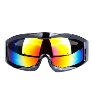 Wholesale 2018 bicycle riding glasses men and women professional single layer spherical lens ski glasses Outdoor sports riding equipment