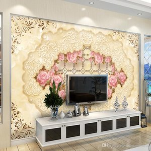 Wholesale High quality D photo wall mural Art Wall living room textile wallpaper Home improvement flower arch bridge porch paper wall