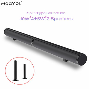 Wholesale HAAYOT Split Type W HIFI Wireless Bluetooth Speaker Stereo Soundbar Support USB Optical RCA HDMI Subwoofer for TV Sound Bar Home Theatre
