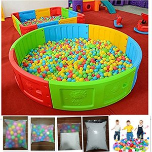2.16 Inch Fun Crush Proof Balls Soft PE Air-Filled Ocean Ball Play Balls Pit Balls for Baby Kids Tunnel Tent Pool Swim 100PCs on Sale
