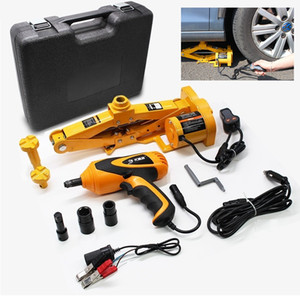 Car Electric Hydraulic Floor Jack 2T Scissor Lifting Set Impact Wrench Tool tire repaire
