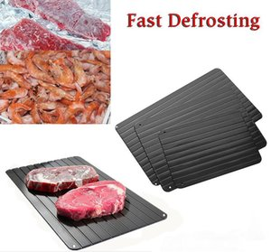 Wholesale Fast Defrosting Tray Defrost Meat or Frozen Food Without Electricity Microwave Thaw Frozen Magic Metal Plate Defrost Tray ELH052