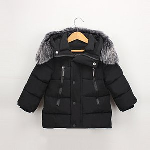 Dulce Amor Kids Down Jacket 2018 Winter Warm Parkas Coats Thicken Natural Fur Collar Hooded Outerwear Baby Boys Girls Clothes
