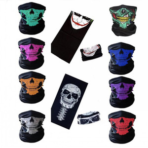 Wholesale Halloween Mask Festival Skull Masks Skeleton Outdoor Motorcycle Bicycle Multi function Neck Warmer Ghost Half Face Mask Scarves
