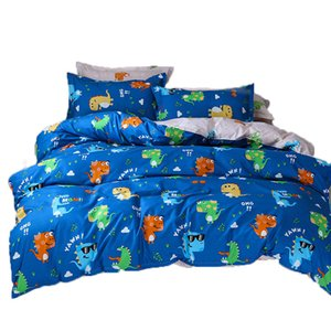 Wholesale Dinosaur Valley Bed Linens Bedspread Quilt Cover Flat Bed Sheet Pillow Cover Bedding Duvet Cover Set Twin Full Queen King Size