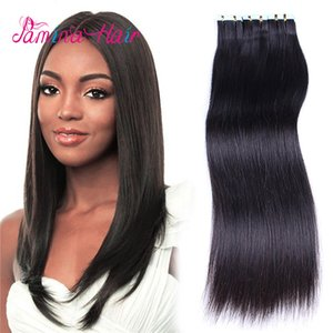 Wholesale Real Human Cuticle Remy Hair Extension Natural Black Human Hair Tape In Extensions Adhesive Tape Extensions 50g (2.5g piece, 20 pieces pack)