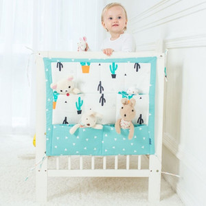 Wholesale New Design Muslin Tree Bed Hanging Storage Bag Baby Cot Bed Brand Baby Cotton Crib cm Toy Diaper Pocket for Crib Bedding Set
