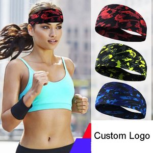 Wholesale Running Yoga Sports Headband Antiperspirant Stretch Hairband Elastic Sweatband For Men Women Custom Logo Support FBA Drop Shipping H393F