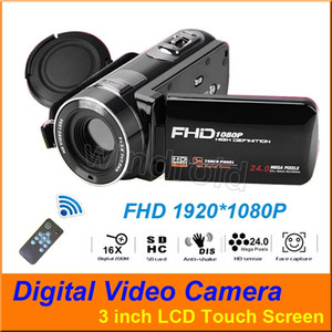 3 inch Touch screen FHD 1080P 16X Digital Zoom 24MP Digital Video Cameras Camcorder DV 270 Degree Rotatable Camera with Remote Control on Sale