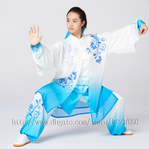 Chinese Tai chi clothing Kungfu uniform Taiji competition suit Routine outfit embroidery garment for women men girl boy children adults kids