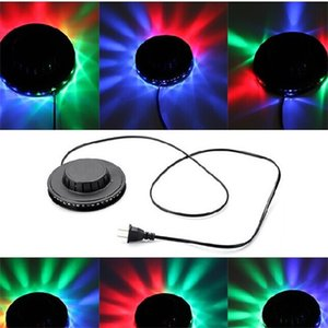 LED Music Laser Stage Light Auto Voice Operated Portable Disco Dancing Stage Dazzle Lighting Magic UFO Garden Decoration 8kd hh
